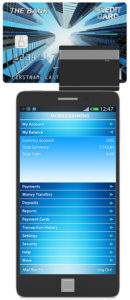 Touchscreen Smart Phone with Credit Card Reader